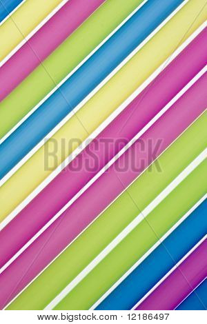 striped pattern made from drinking straws
