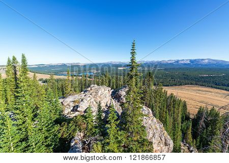 High Park Lookout view near the Bighorn Mountains in Wyoming