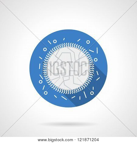 Immunology blue round flat vector icon