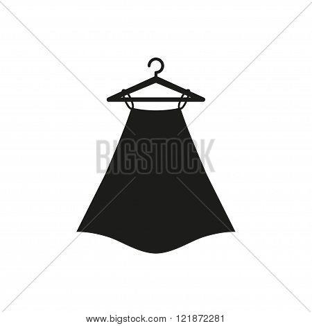 Black skirt on hanger