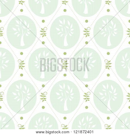 Shabby chic pattern with trees