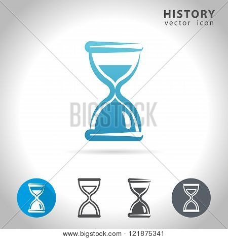 History icon set collection of sand-glass icons vector illustration