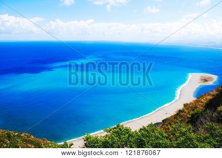 very rare view of tindari in sicily italian sea ** Note: Soft Focus at 100%, best at smaller sizes