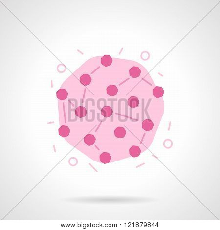 Rubella virus flat color design vector icon