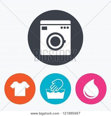 Wash icon. Not machine washable symbol.