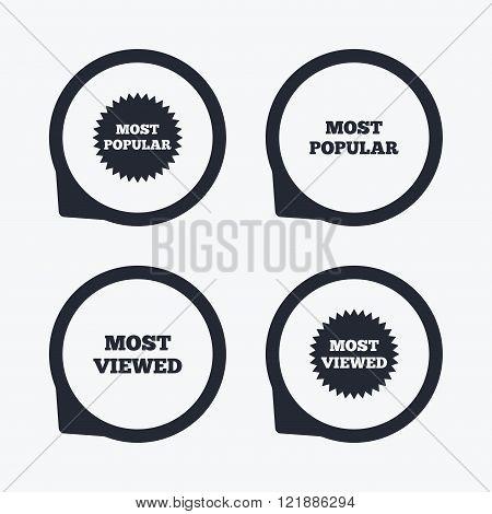 Most popular star icon. Most viewed symbol.