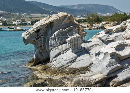Amazing rock formations in kolymbithres beach, Paros island, Cyclades, Greece