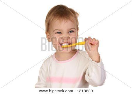 Baby mit Zahnbürste 2
