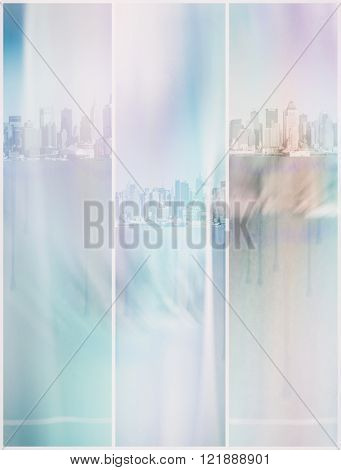 NYC Pastel Abstract