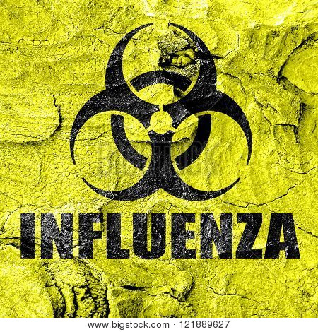 Influenza virus concept background