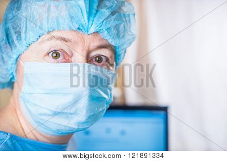 Doctor looking seriously