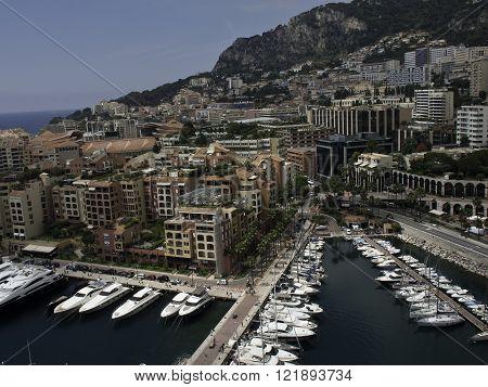 the City of Monaco at the mediterranean sea