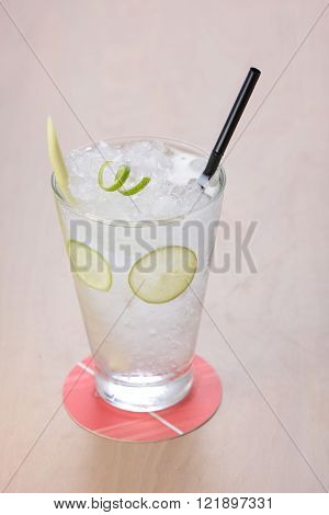 Lemongrass lime fruit juice in a glass