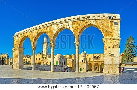 The view on the landmarks of 