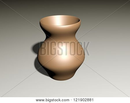 The vase from clay, a jug for liquid, the isolated use subject, house kitchen utensils, brown ware costs