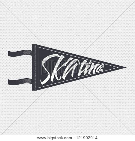 Skating sign handmade differences, made using calligraphy and lettering It can be used as insignia b