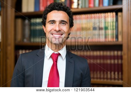 Confident lawyer portrait