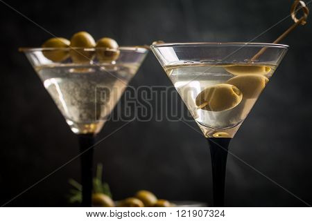 Two Glasses Of Dry Martini