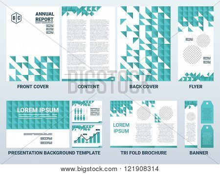 A4 Sheet Cover And Presentation Template In Green Theme