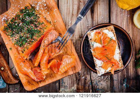 Toast With Smoked Salmon