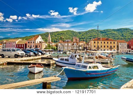 Old harbor of Stari Grad on Hvar island Dalmatia Croatia