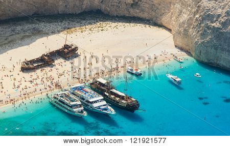 Navagio beach, Zakinthos, Greece