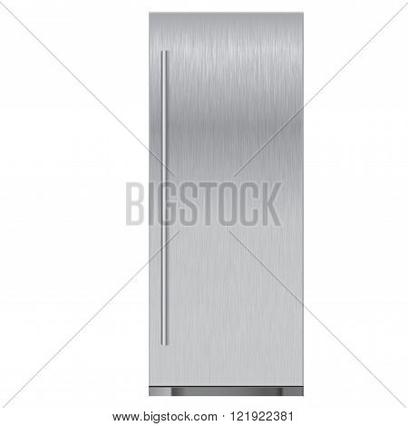 Refrigerator stainless. Vector illustration isolated on white background