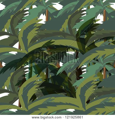 Seamless Palm Trees Leaves pattern. Illustration of a seamless pattern vector background with palm trees leaves for tropical jungle floral