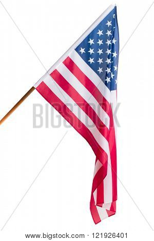 Flag of the USA isolated on white backgroud