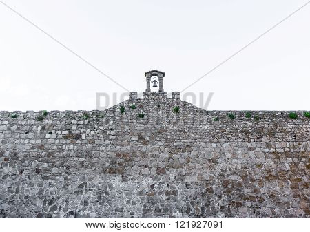 Bell on top of wall
