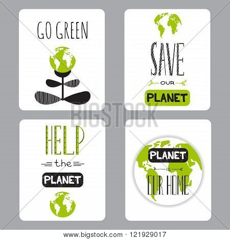 Earth day set of cards