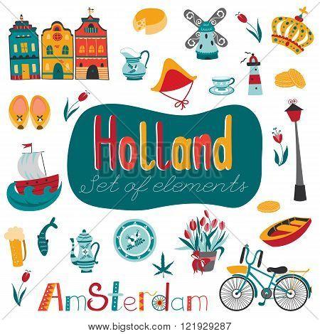 Netherlands set of elements