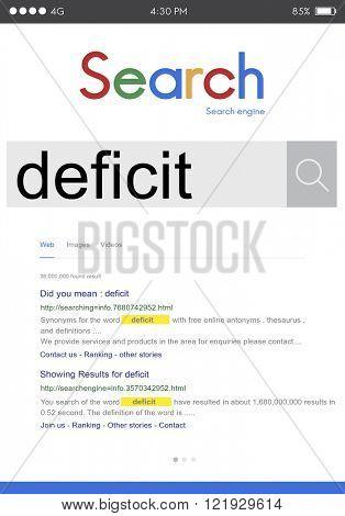Deficit Crisis Problem Bankruptcy Debt Deficiency Concept