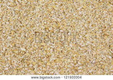 Close up background of raw oat bran