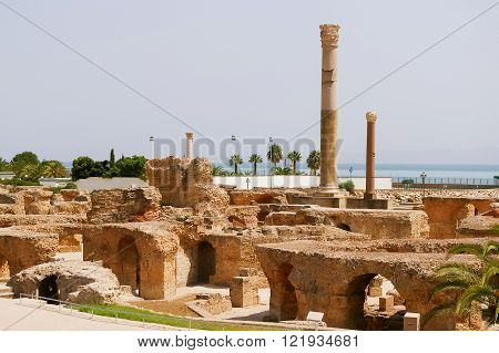 Carthago (Carthage) ruins of capital city of the ancient Carthaginian civilization. UNESCO World Heritage Site. Tunis Tunisia.