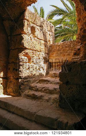 Carthago (Carthage) ruins of capital city of the ancient Carthaginian civilization. UNESCO World Heritage Site. Tunis Tunisia.