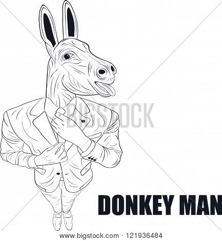 Cartoon character donkey