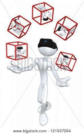 Virtual Reality VR Juggling