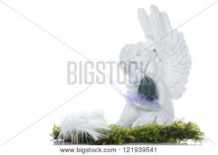 White Angel Easter Decor