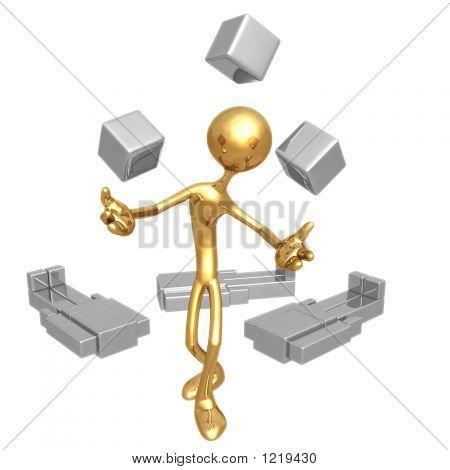 Jonglieren Cube Köpfe