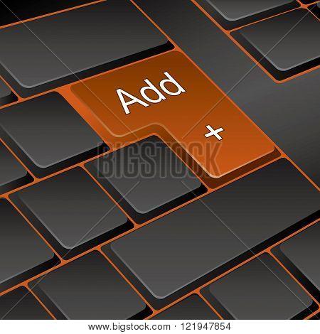 vector keyboard. key add