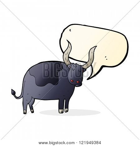 cartoon ox with speech bubble