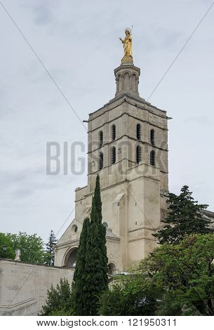 Notre Dame des Doms cathedral in Avignon France