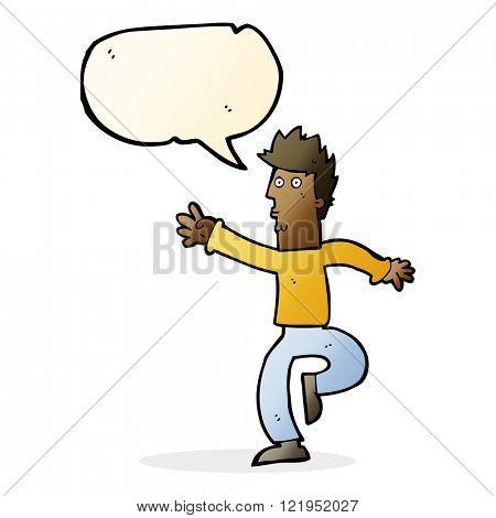 cartoon urgent man with speech bubble