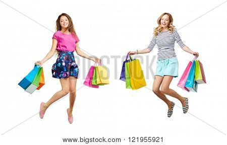 Happy shopaholics