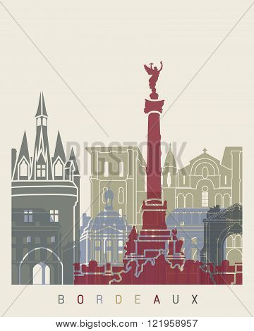 Bordeaux Skyline Poster