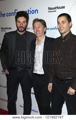 LOS ANGELES - MAR 15: Jonathan Saba, Bill Bromiley, Ness Saban at the premiere of Saban Films' 'The Confirmation' at NeueHaus on March 15, 2016 in Los Angeles, California