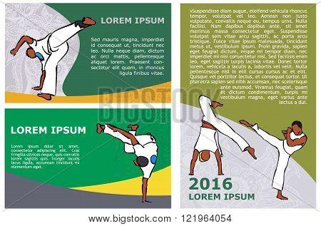 vector capoeira flyer template