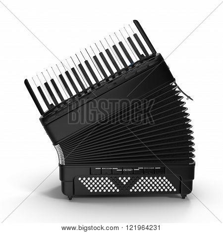Electronic accordion isolated on white background