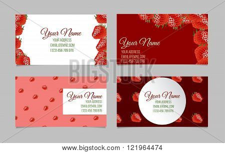 Vector business card set.